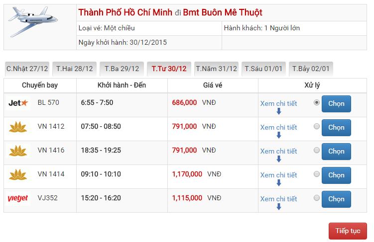 Vé máy bay Vietjet Air đi Buôn Ma Thuột