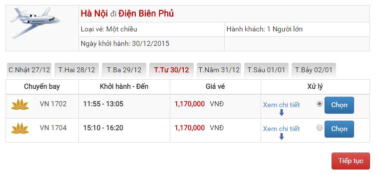 Vé máy bay Vietjet Air đi Điện Biên