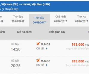 Vé máy bay Lâm Đồng Thanh Hóa của Vietjet Air